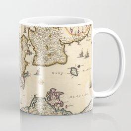 Vintage Map of Denmark (1690) Coffee Mug