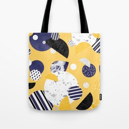 Yellow and Blue Circles Tote Bag