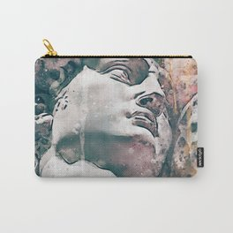 Watercolor Statue Of King David - Modern Gallery Art Carry-All Pouch