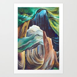 Emily Carr Forest British Columbia Painting Art Print