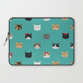 Cat heads cute pet gifts cat lover cat person must haves cat breeds Laptop Sleeve