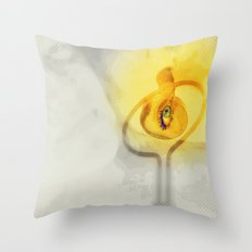 Lovers and the lovebird Throw Pillow