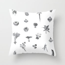 Favorite Veggies Throw Pillow