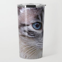 kitty in secret garden Travel Mug