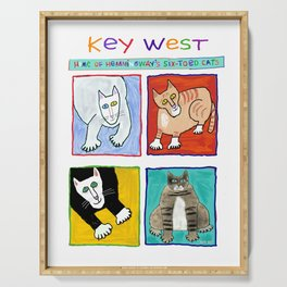 Hemingway's Cats of Key West Serving Tray