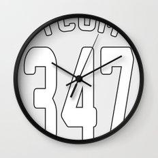 TCOM 347 AREA CODE JERSEY Wall Clock