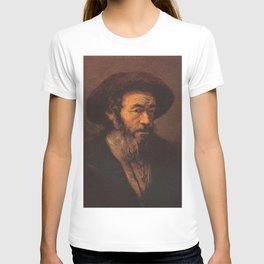 Rembrandt - Old man with beard looking right T-shirt