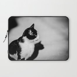 Black and white cat Laptop Sleeve