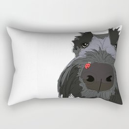 Ladybug Scottie Rectangular Pillow