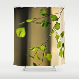 Leaflets In The Light Shower Curtain
