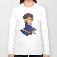 cyclops Long Sleeve T-shirts featuring Cyclops by Matthew Bartlett