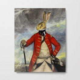 Military Hare, Basil Stag Hare art print Metal Print