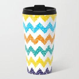 Chevron dotted background. Modern texture. Travel Mug