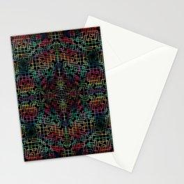 Geometric Symmetry Rainbow Stationery Cards