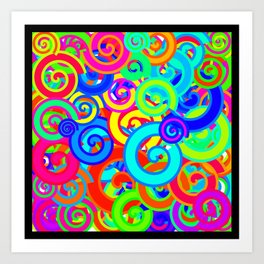 Swirl Abstract Pattern 1 Art Print