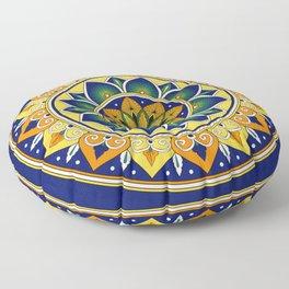 Italian Tile Pattern – Peacock motifs majolica from Deruta Floor Pillow