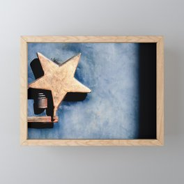 The Macro Star And Spring Framed Mini Art Print