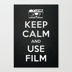 Keep Calm And Use Film Canvas Print