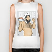 chocolate Biker Tanks featuring Chocolate by Pablito