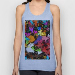 Artistic Messy Abstract Unisex Tank Top
