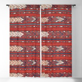 Yomut Flatweave Southwest Turkestan Kilim Print Blackout Curtain