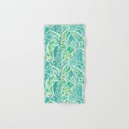 LEAFY ABUNDANCE Green Banana Leaf Print Hand & Bath Towel