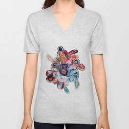 Earth's Loveliness, Agate Collection Unisex V-Neck