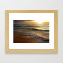 caribbean dream (orange) Framed Art Print