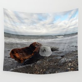 Driftwood And Ice in Spring Wall Tapestry
