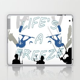 Life's A Breeze For Kitesurfers Laptop & iPad Skin