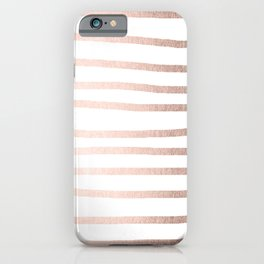 Simply Drawn Stripes Moon Dust Bronze iPhone Case