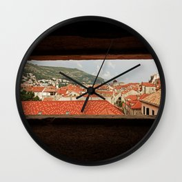 Looking through the eye of Dubrovnik Wall Clock
