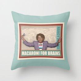 Macaroni For Brains Throw Pillow