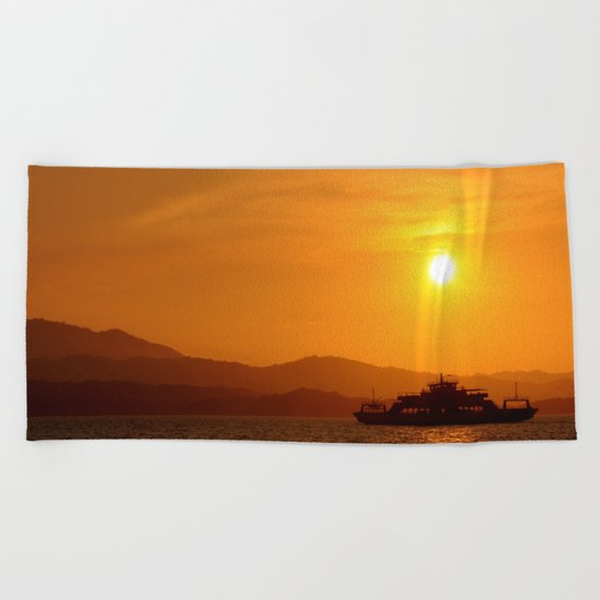 Last Ferry Beach Towel