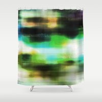 techno Shower Curtains featuring Techno Dream by Idle Amusement