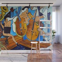 Symphonie de Cobalt Wall Mural