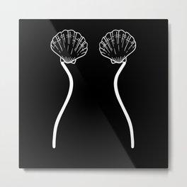Lingerie Underwear Seashell Bra Women Metal Print