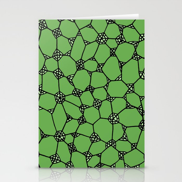 Yzor pattern 006-4 kitai green Stationery Cards