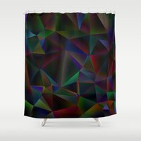 stained glass Shower Curtains featuring Stained Glass by Stuff.
