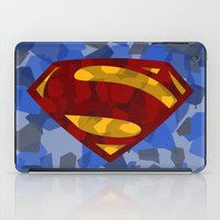 man of steel iPad Cases featuring MAN OF STEEL by thebuffaloarmy