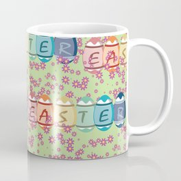 Easter word on eggs Coffee Mug