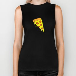 i want pizza Biker Tank