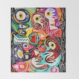 Life is beautiful street art graffiti Throw Blanket