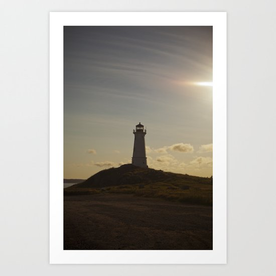 Back Lit Lighthouse Art Print