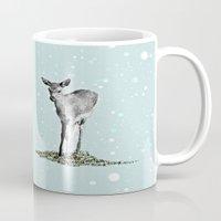 bambi Mugs featuring Bambi by Monika Strigel