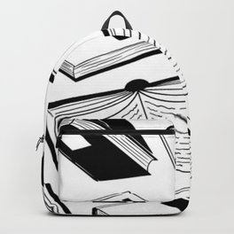 BOOK OBSESSION MONOCHROME PATTERN Backpack