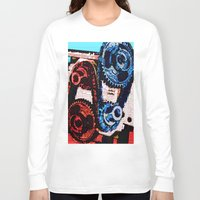 gears of war Long Sleeve T-shirts featuring Dual Gears by Chris Crewe