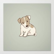 Jack Russell Terrier Dog Illustration Canvas Print