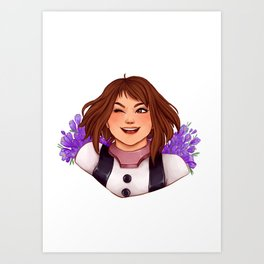 Ochako + Crocuses Art Print