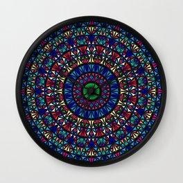 Colorful Church Window Mandala Wall Clock